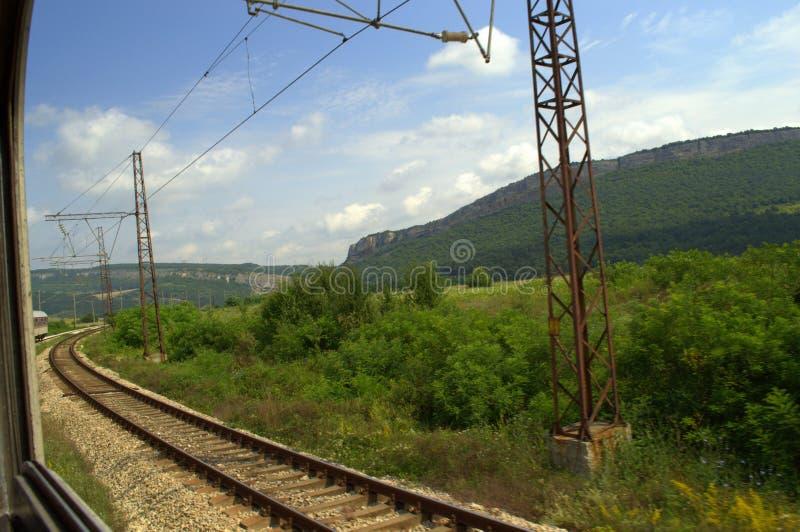 Перемещать поездом стоковая фотография rf