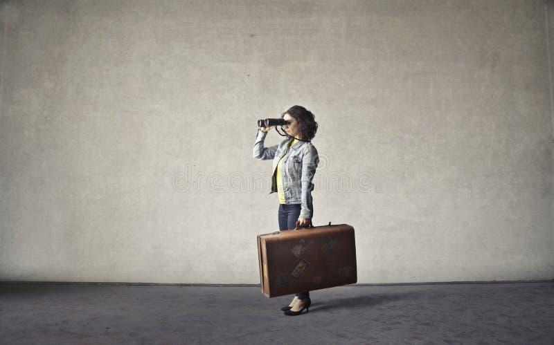 перемещая женщина стоковые изображения