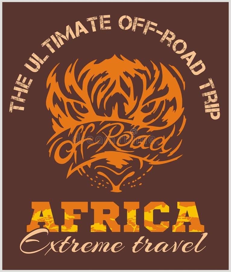 Перемещение Африка - весьма внедорожная эмблема вектора бесплатная иллюстрация