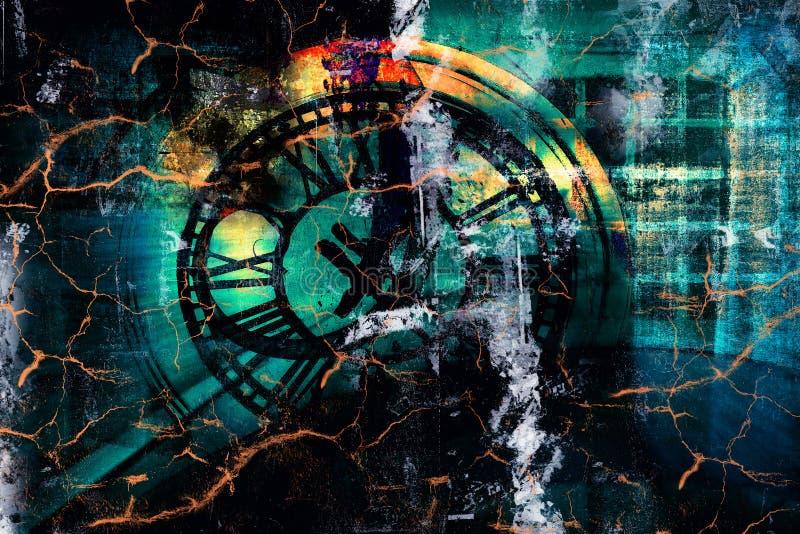 Перемещение времени иллюстрация штока