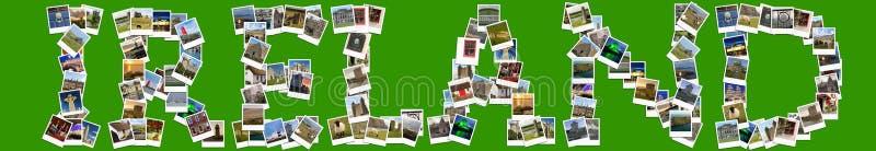 Перемещение в Ирландии Коллаж сделанный из поляроидов стоковое фото rf