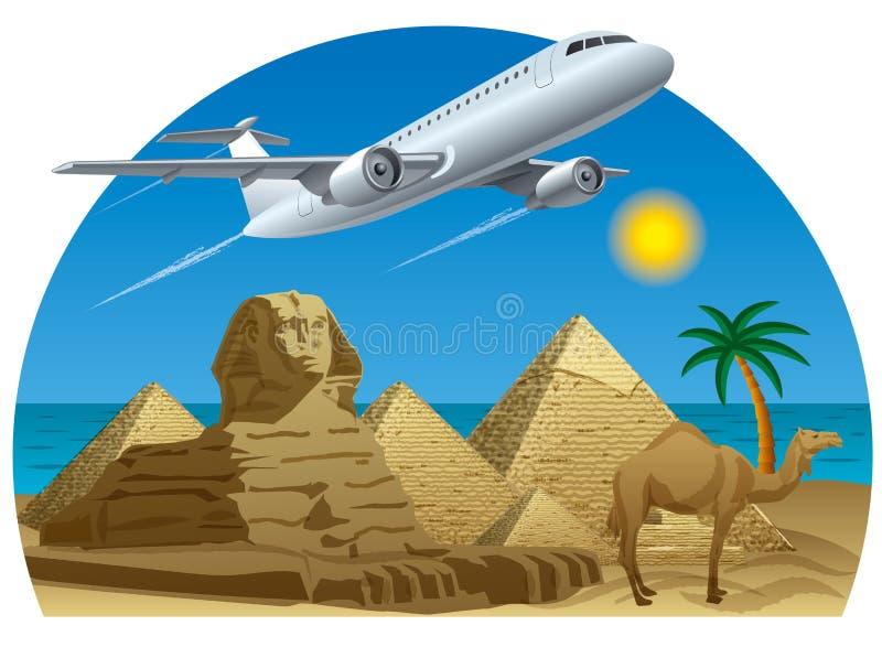 Перемещение Египта иллюстрация штока