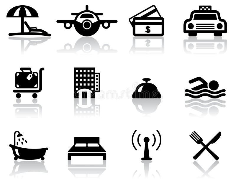 перемещение икон гостиницы иллюстрация вектора
