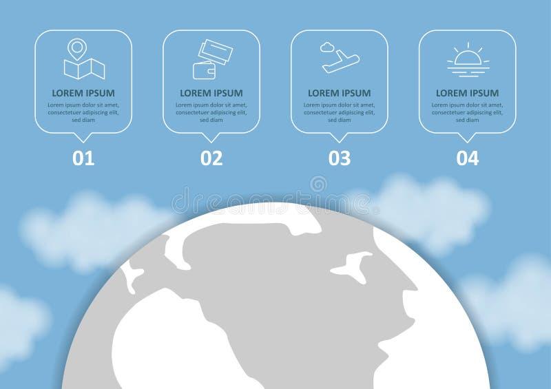 Перемещение и туризм Infographic установило с диаграммами и другими элементами r бесплатная иллюстрация