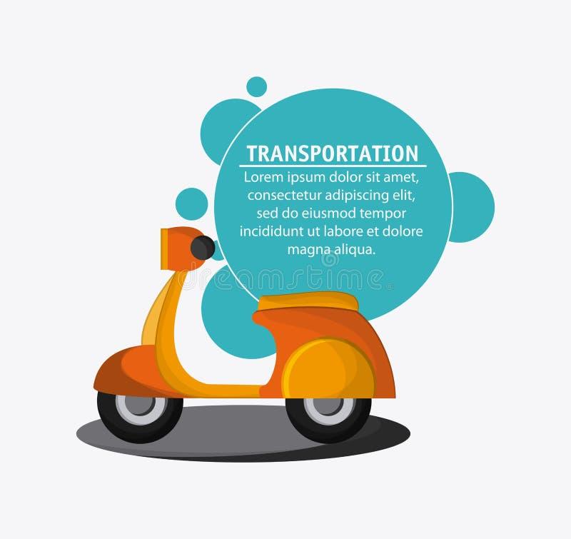 Перемещение корабля транспорта мотоцикла, вектор бесплатная иллюстрация