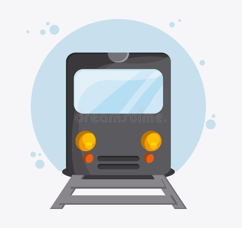 Перемещение корабля транспорта поезда, вектор иллюстрация вектора