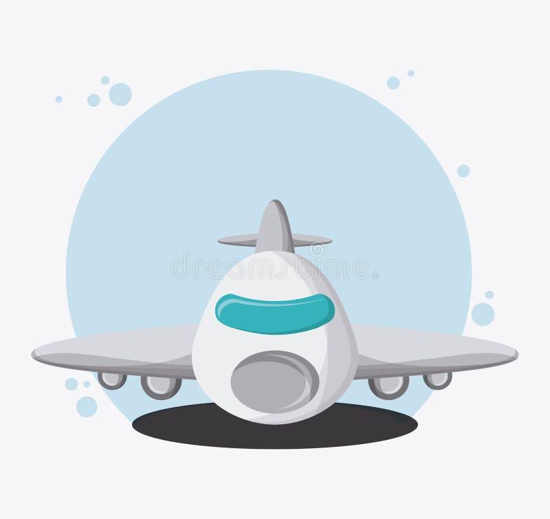 Перемещение корабля транспорта самолета, вектор иллюстрация штока