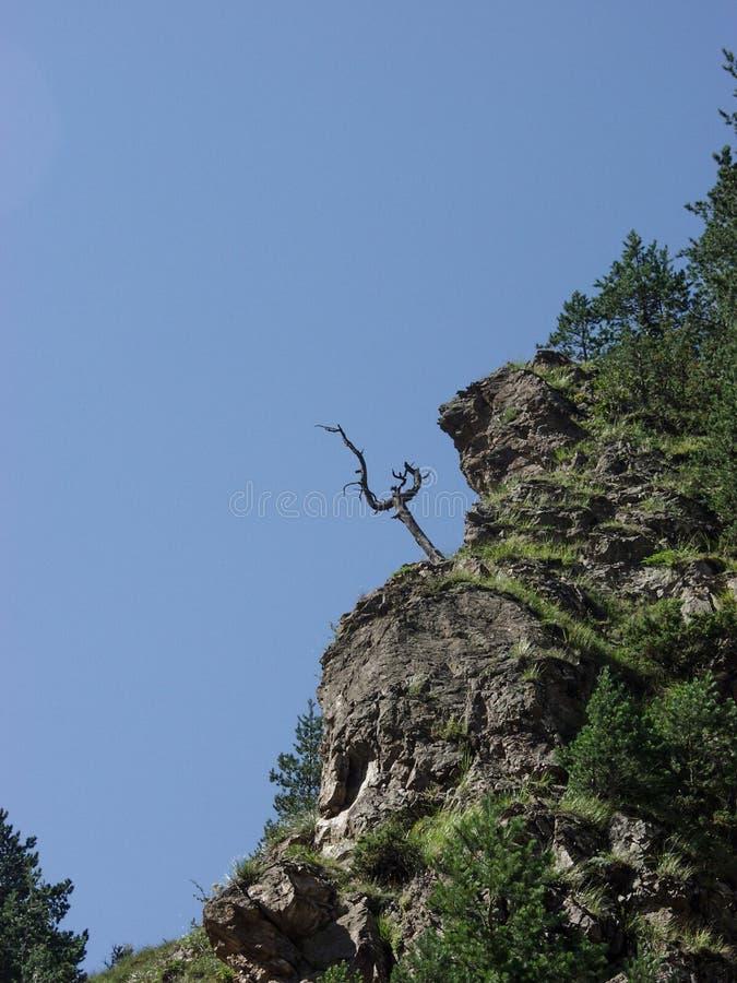 Перемещение к горам Кавказ в Kabardino-Balkaria стоковое изображение