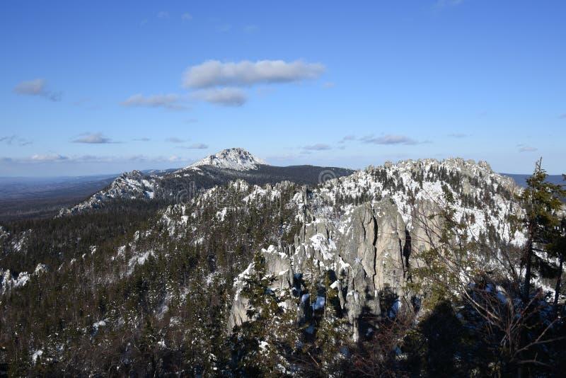 Перемещение к южному Уралу Национальный парк Taganay стоковые изображения rf