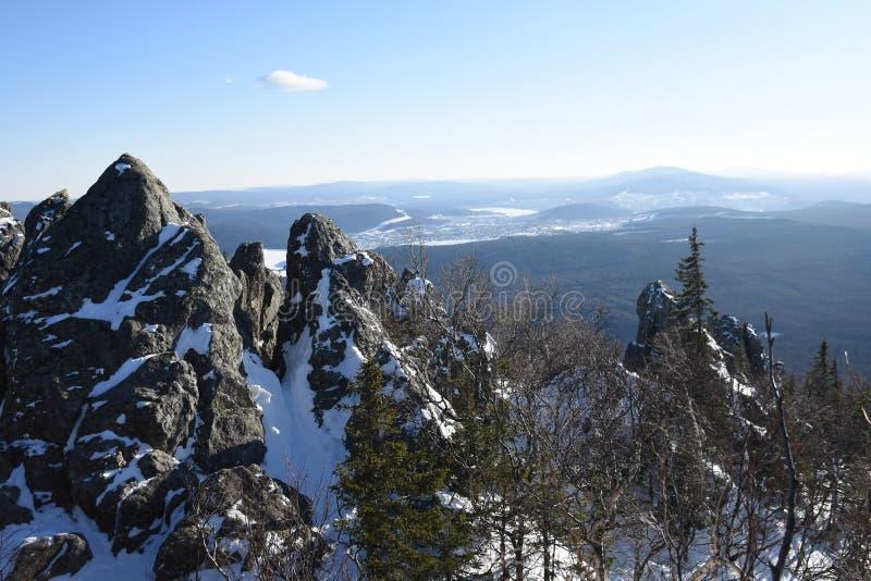 Перемещение к южному Уралу Национальный парк Taganay стоковые фото