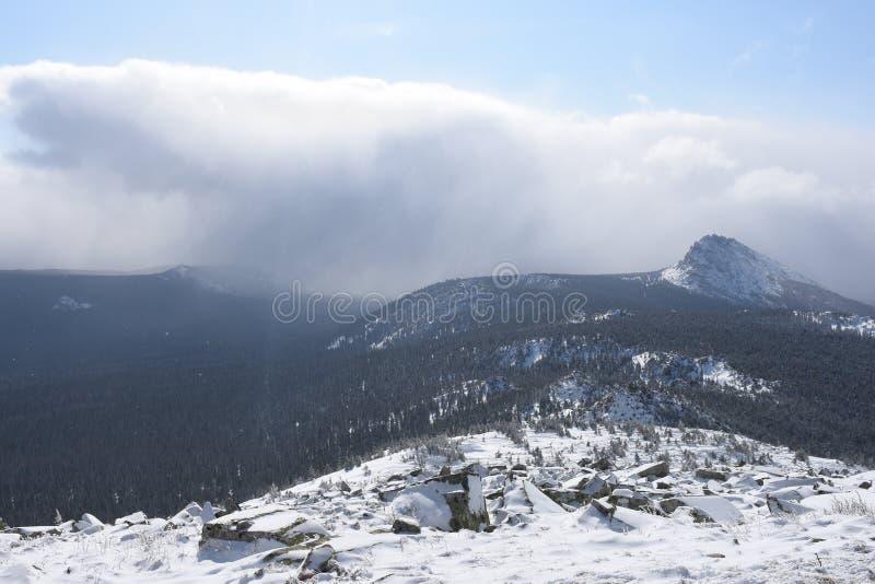 Перемещение к южному Уралу Национальный парк Taganay стоковая фотография