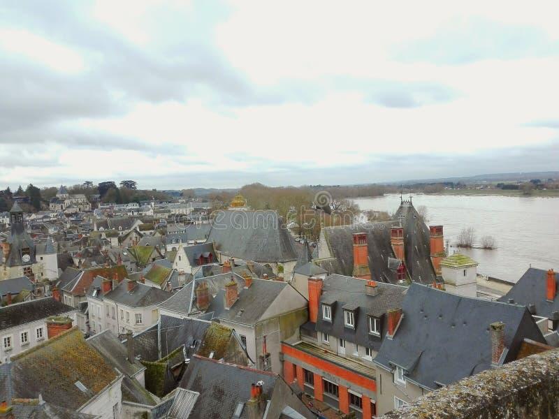 Перемещение ландшафта Amboise Франции стоковое фото