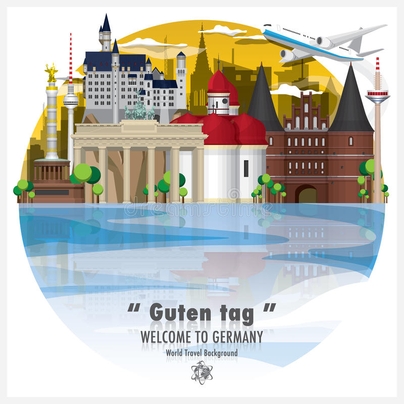 Перемещение ориентир ориентира Федеративной республики Германии глобальное и путешествие b стоковая фотография rf