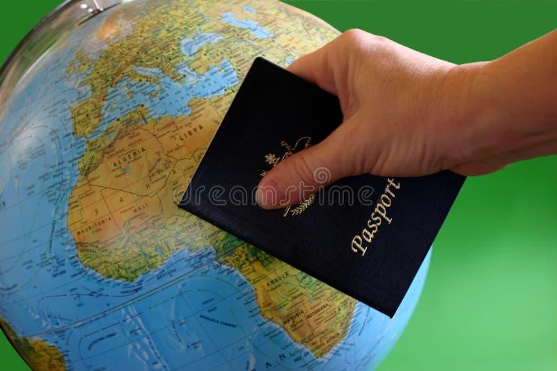 перемещение пасспорта стоковое фото