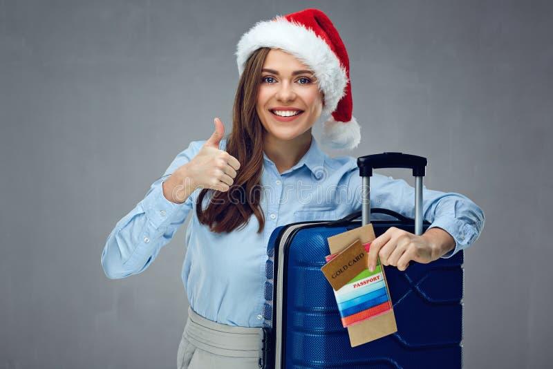 Перемещение подарка на рождество с кредитной карточкой золота стоковое изображение rf