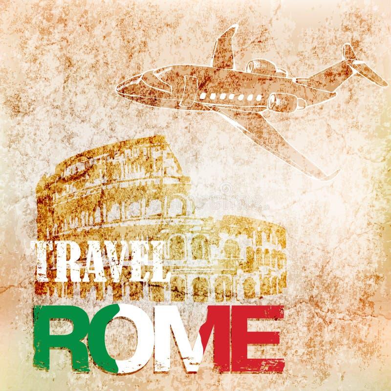 Перемещение предпосылки к Риму также вектор иллюстрации притяжки corel иллюстрация штока