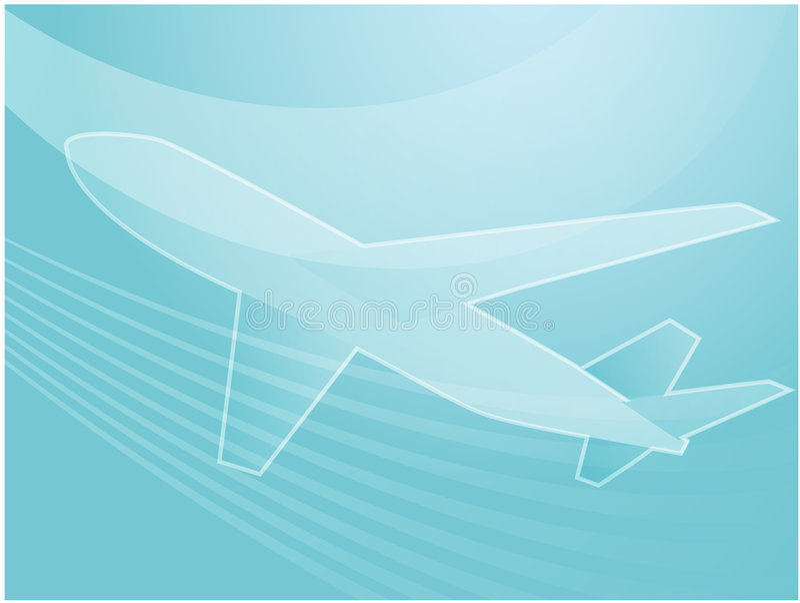 перемещение самолета воздуха иллюстрация штока
