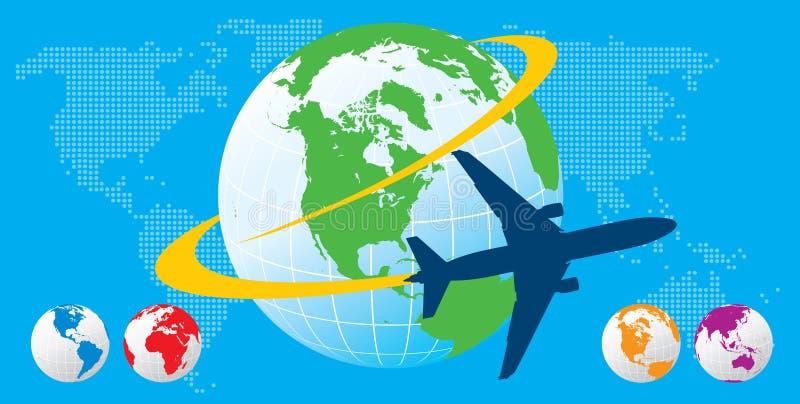 перемещение самолета иллюстрация вектора