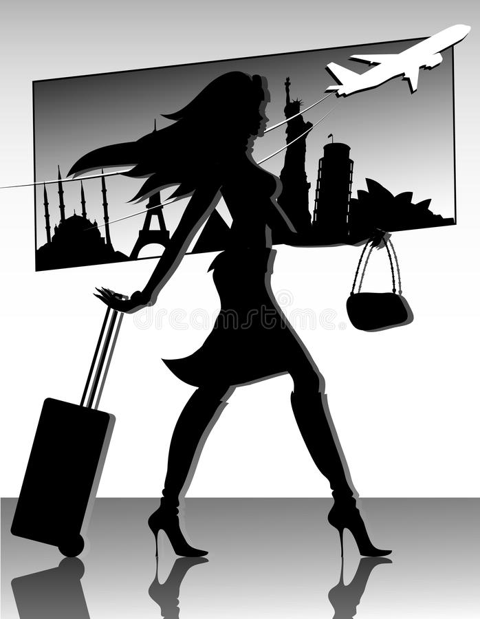 перемещение силуэта девушки бесплатная иллюстрация