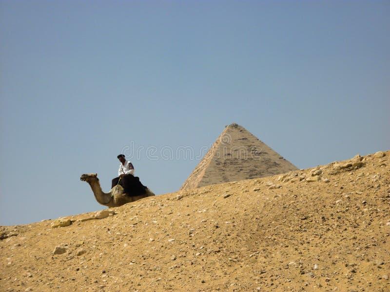 Перемещение Солнце пустыни песка пирамид Египта стоковые изображения