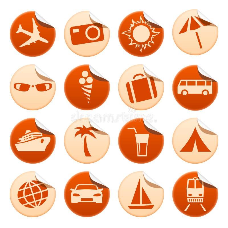 перемещение туризма стикеров иллюстрация вектора