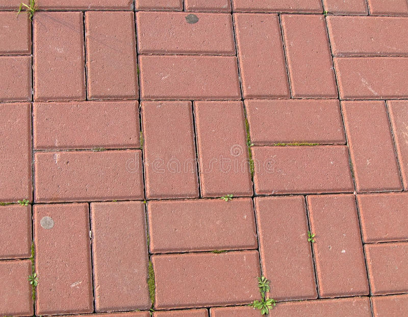 перемещение улицы принципиальной схемы кирпича красное стоковое фото