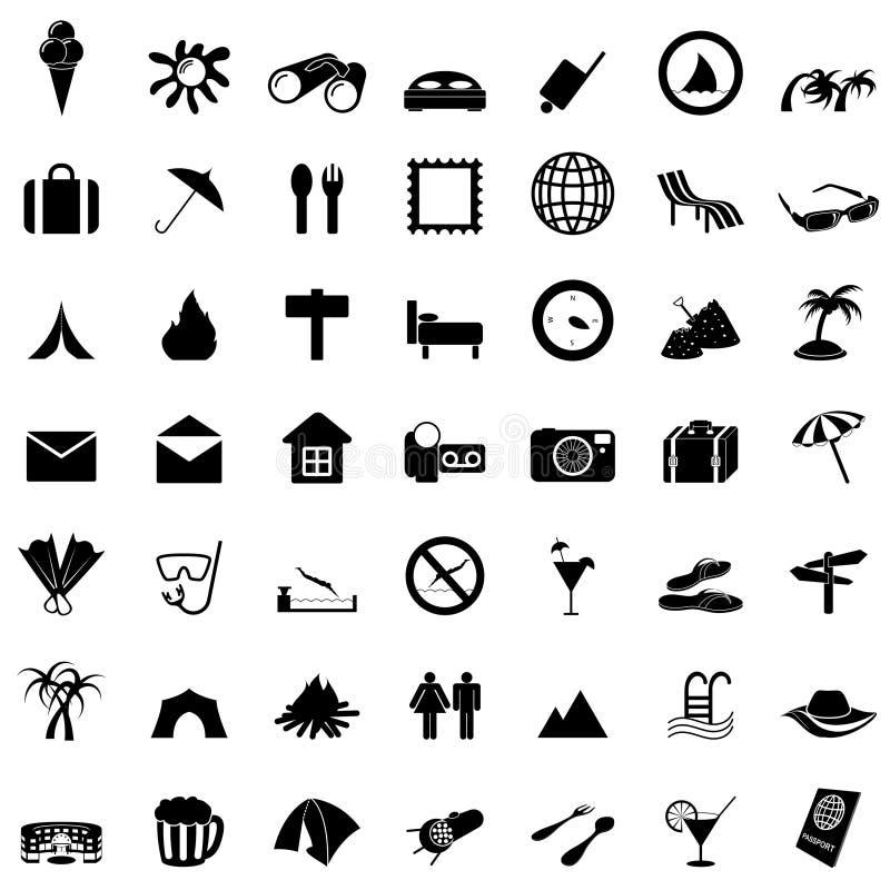 перемещение установленное иконами иллюстрация вектора
