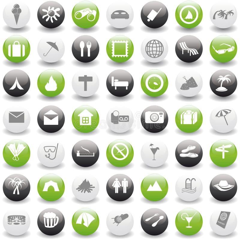 перемещение установленное иконами бесплатная иллюстрация