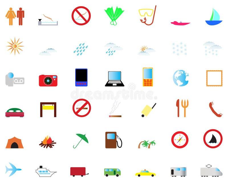 перемещение установленное иконами иллюстрация штока