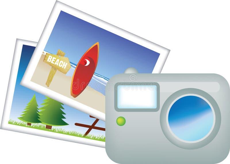 перемещение фото праздника иллюстрация вектора