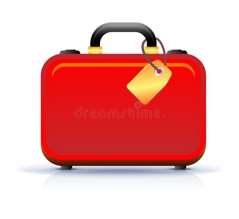 перемещение чемодана иконы иллюстрация штока