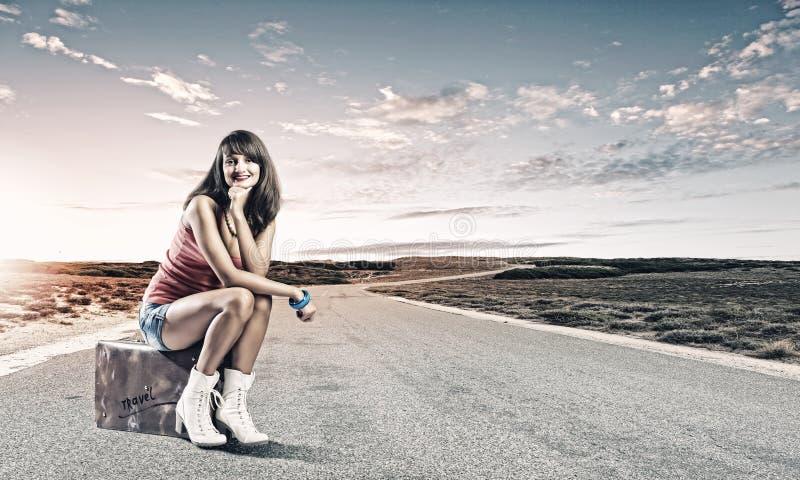 Download Перемещение Autostop стоковое фото. изображение насчитывающей случай - 41651224