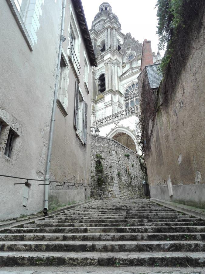 Перемещение blois Франции улицы стоковое фото rf