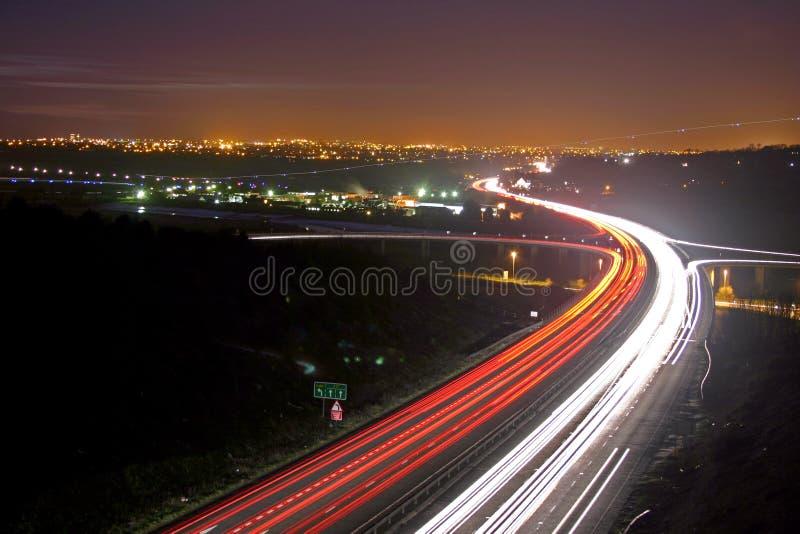 перемещение nighttime стоковое изображение rf