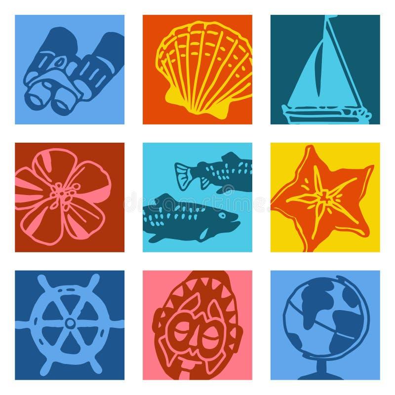 перемещение sailing шипучки предметов искусства бесплатная иллюстрация