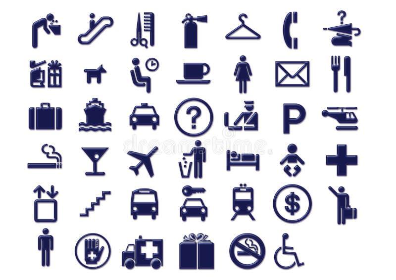 перемещение signage икон авиапорта бесплатная иллюстрация