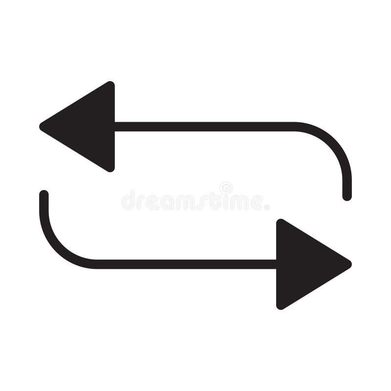 Перемотайте значок вектора глифа плоский иллюстрация вектора