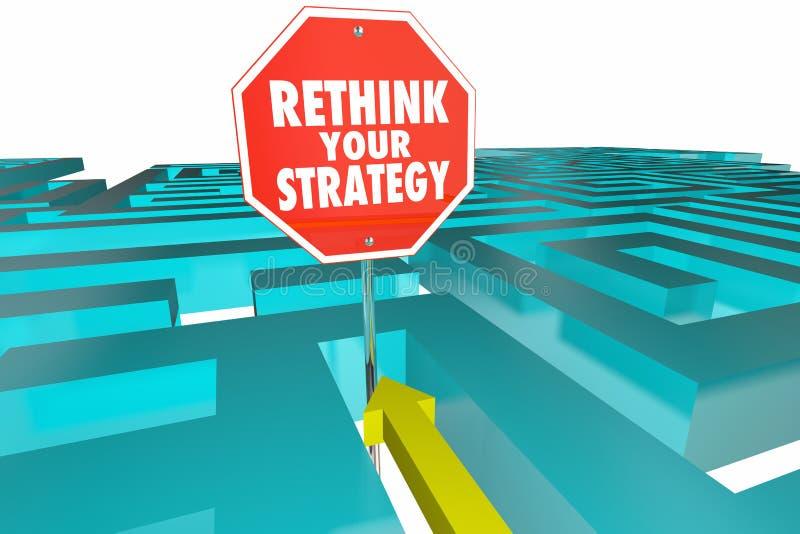 Переосмыслите ваш знак лабиринта плана стратегии новый бесплатная иллюстрация
