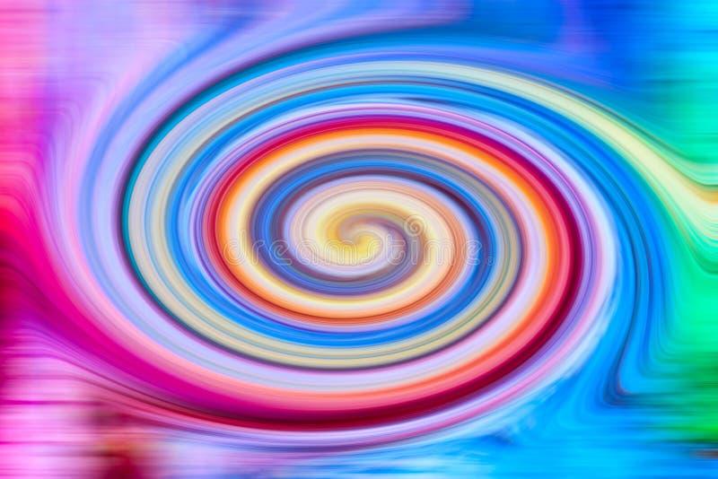 Переплетенная конспектом предпосылка текстуры twirl multicolour стоковая фотография