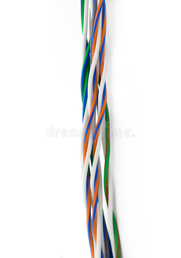 переплетенный провод стоковое изображение