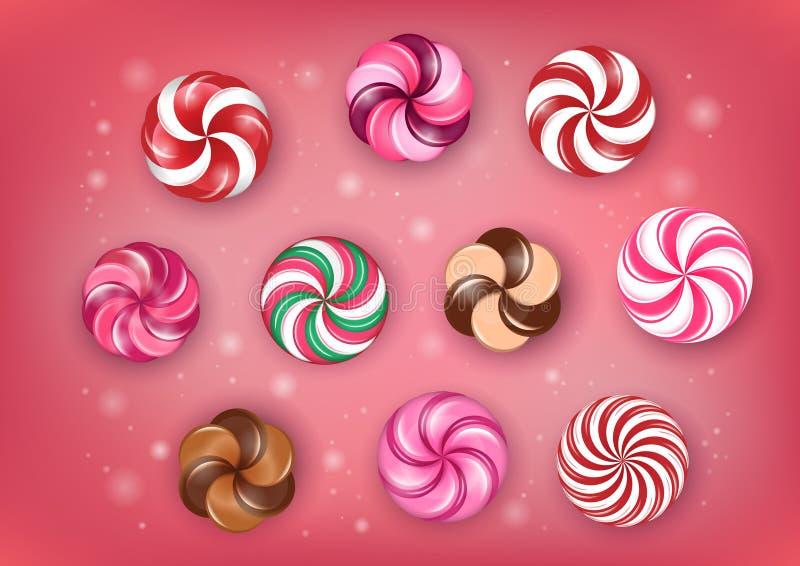 Переплетенная конфета рождества стоковое фото