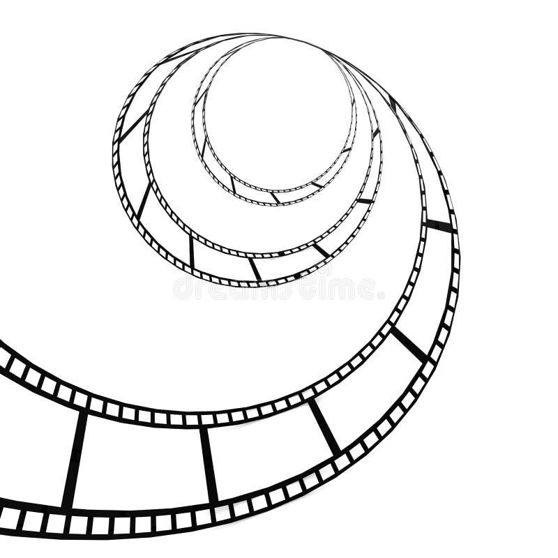 Переплетенная прокладка фильма иллюстрация вектора