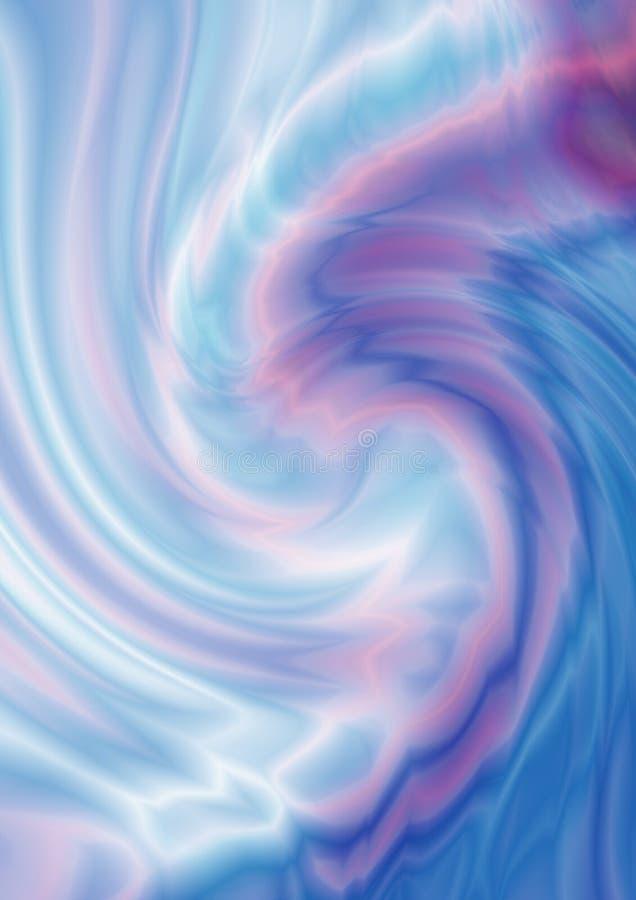 Переплетенный в zigzagvortexразвевает pinkи голубые тени иллюстрация вектора