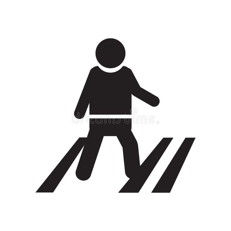 Пересекая знак и символ вектора значка дороги изолированные на белой предпосылке, пересекая концепции логотипа дороги иллюстрация вектора