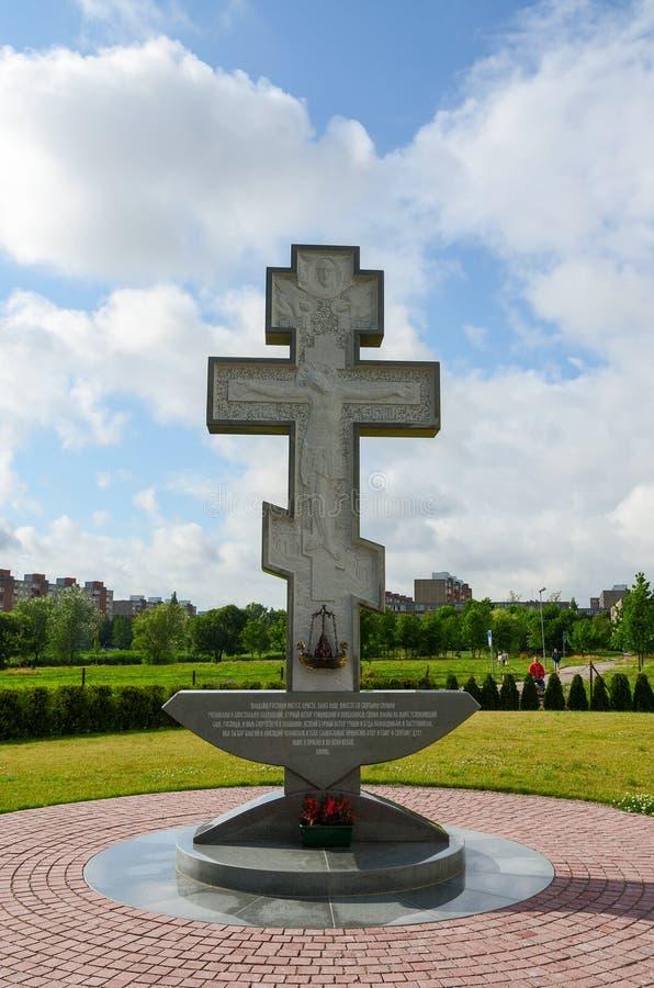 Пересеките на территорию церков Pokrovo- Николаса, Klaipeda, Lithua стоковая фотография rf