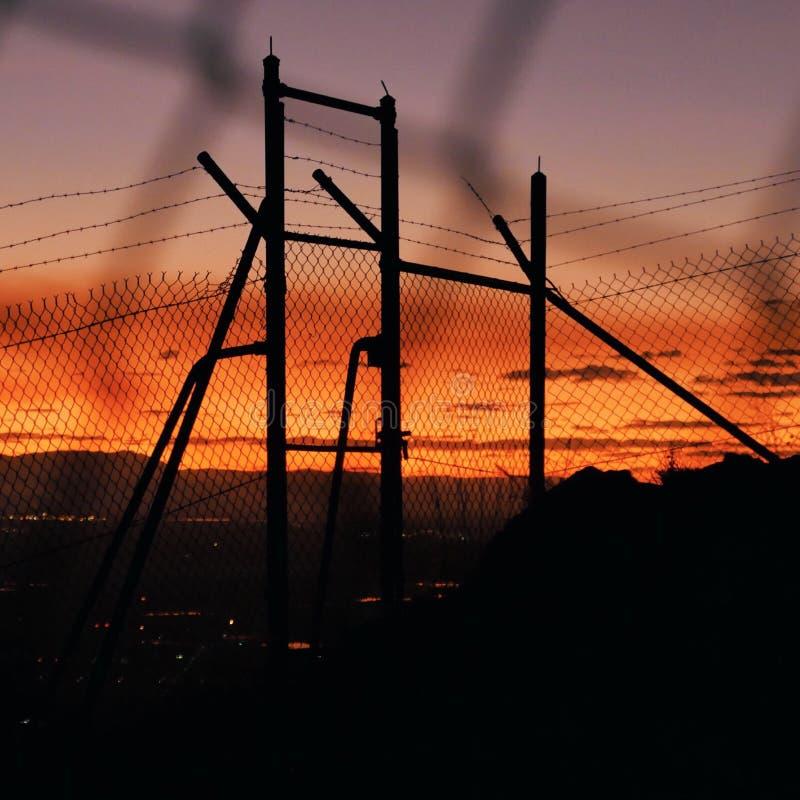 Пересеките небеса стоковые фотографии rf
