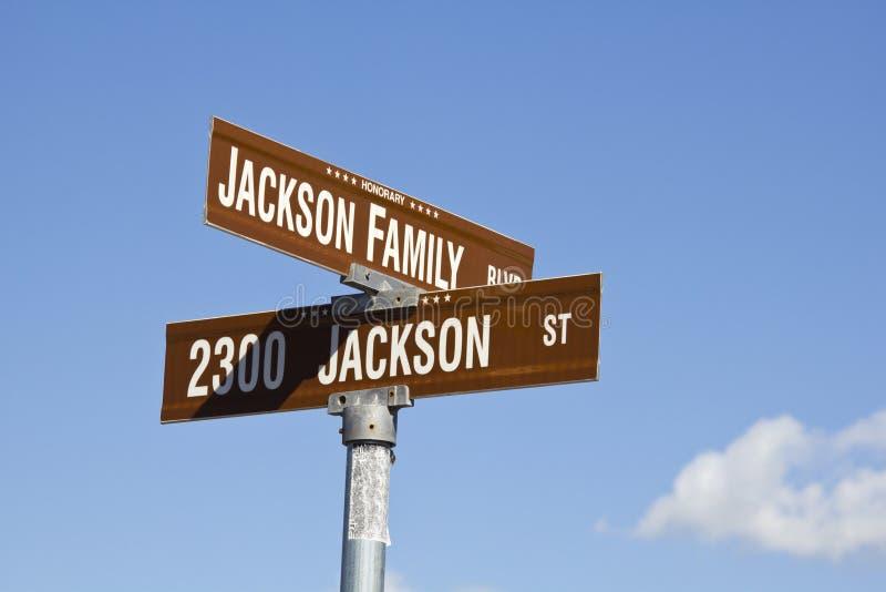 пересечение jackson michael s стоковые фотографии rf