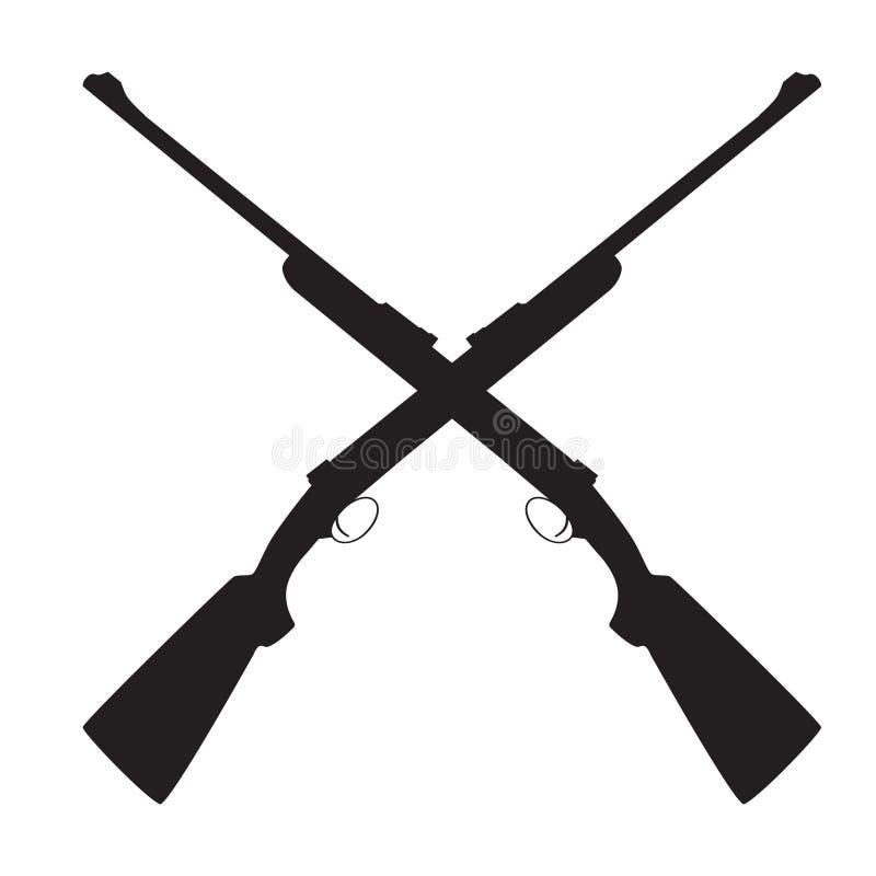 Пересеченная винтовка иллюстрация штока