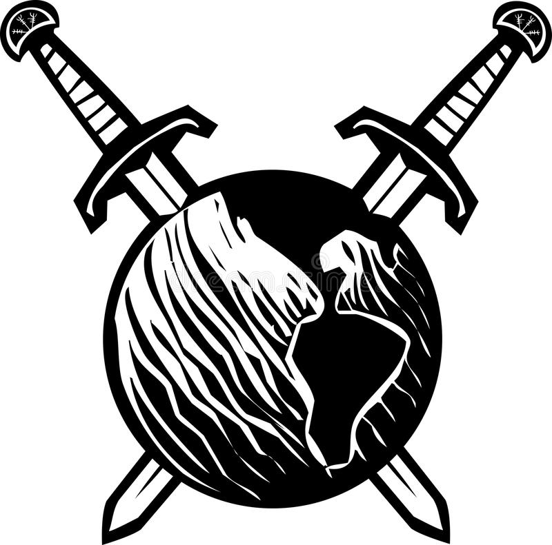 Download Пересеченная земля шпаг иллюстрация вектора. иллюстрации насчитывающей tattoo - 41660530