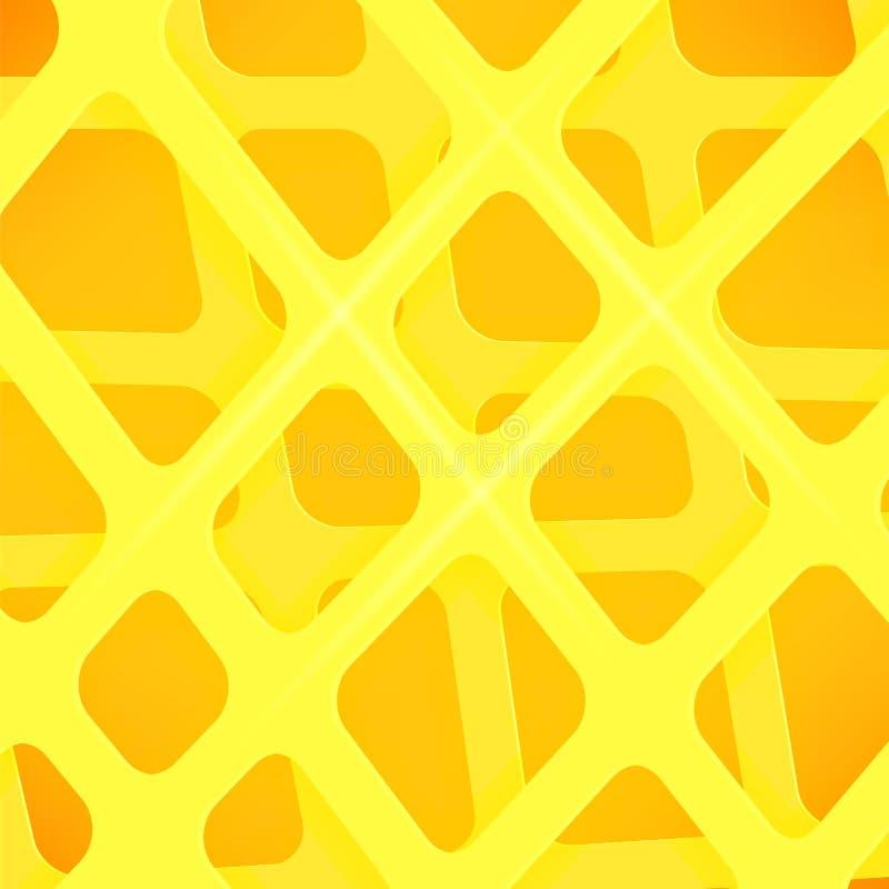 Пересеченные линии предпосылка крышки желтого цвета конспекта иллюстрация штока